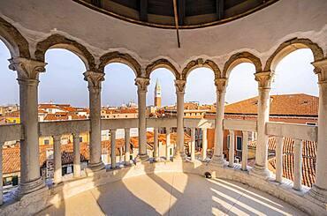 Dome of Palazzo Contarini del Bovolo, palace, Venice, Veneto, Italy, Europe