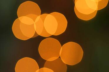 Blurry decorative lights abstract background