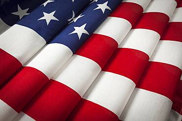 Folded american flag abstract