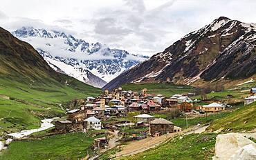 Village view, Mingrelia and Upper Vanetia Ushguli, Georgia, Asia