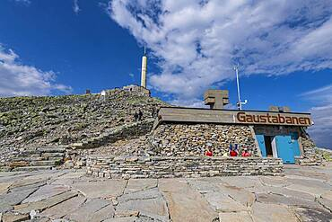 Mountain station of Gausta or Gaustatoppen highest mountain in Norway, Telemark, Norway, Europe