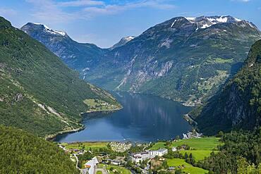Overlook over Geirangerfjord, Sunmore, Norway, Europe