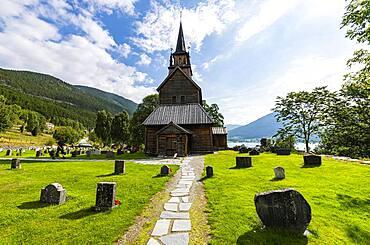 Kaupanger Stave Church, Kaupanger, Vestland, Norway, Europe