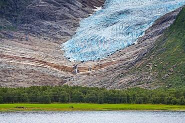 Svartisen glacier, Kystriksveien Coastal Road, Norway, Europe