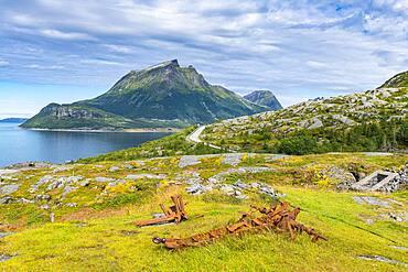 Gronsvik coastal battery, Kystriksveien Coastal Road, Norway, Europe