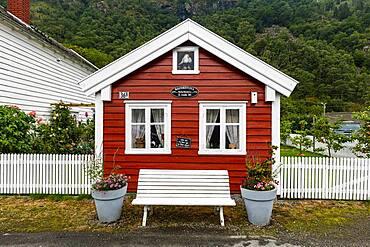 Historic houses in Laerdal, Vestland county, Norway, Europe
