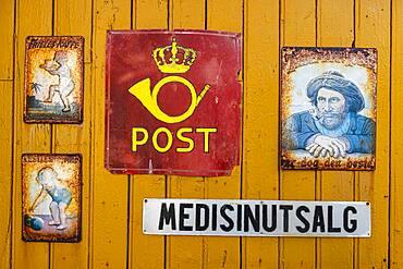Nostalgic memorabilia in Nusfjord, Lofoten, Norway, Europe