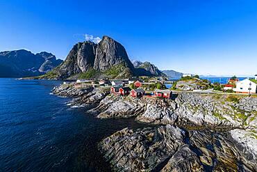 The harbour of Reine, Lofoten, Norway, Europe