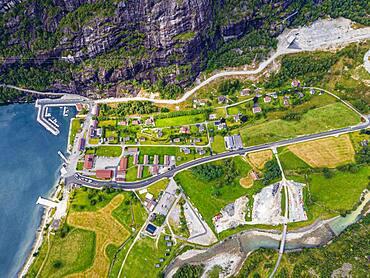 Lysebodn end village of Lystrefjord, Norway, Europe