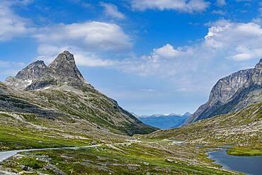 Glacial valley, Trollstigen mountain road, Norway, Europe