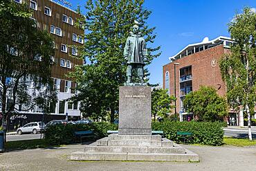 Roald Amundsen monument, Tromso, Norway, Europe
