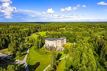 Aerial of Raseburg castle, southern Finland
