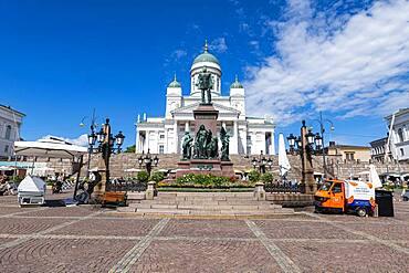 Senate square before the Helsinki Cathedral, Helsinki, Finland, Europe