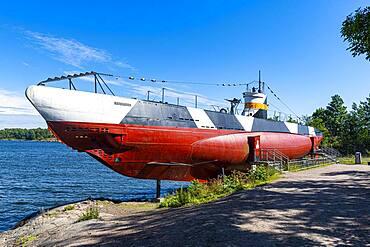 WW 2 submarine, Unesco world heritage site Suomenlinna sea fortress, Helsinki, Finland, Europe