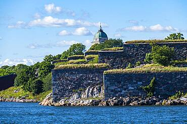 Fortified walls at the Unesco world heritage site Suomenlinna sea fortress, Helsinki, Finland, Europe