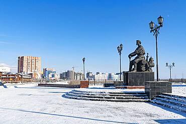 Pyotr Beketov Memorial, Yakutsk, Sakha Republic, Russia, Europe
