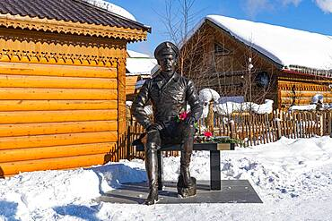 Monument in Yakutsk, Sakha Republic, Russia, Europe