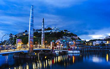 Bridge over Torquay Marina, Torquay, Devon, England, United Kingdom, Europe