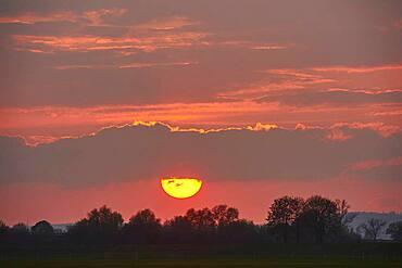 Sunset, clowe-up, Bavaria, Germany, Europe