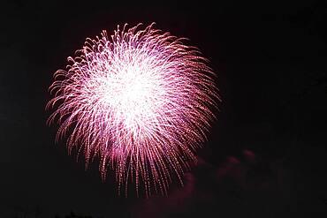 Fireworks exploding during a Fireworks Festival, Tokyo, Japan, Asia