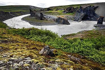 River, Joekulsa, Vestudalur, Northern Iceland, Iceland, Europe