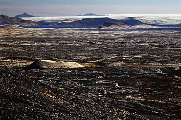 Lava landscape, volcanic vent, Laki fissure, highland, Iceland, Europe