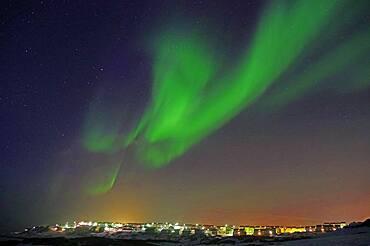 Northern Lights over Nuuk, Capital, Greenland, Denmark, North America