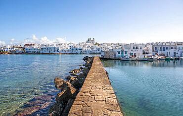 Naoussa, small harbour town, Paros Island, Cyclades, Greece, Europe