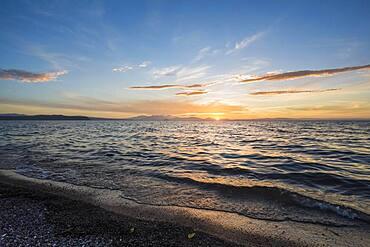 Sunset at Lake Taupo, Waikato, North Island, New Zealand, Oceania