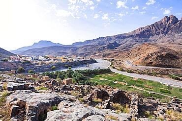 Landscape of Al Hamra, Ad Dakhiliyah, Sultanate Of Oman