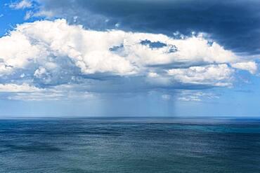 Rain clouds, Fletcher Bay, Coromandel, North Island, New Zealand, Oceania
