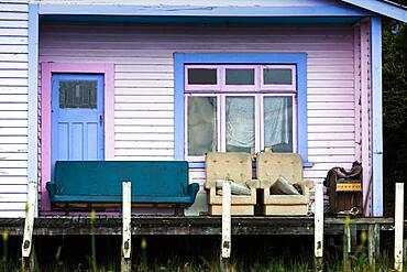 Close-up of house, Karamea, Buller District, West Coast, South Island, New Zealand, Oceania