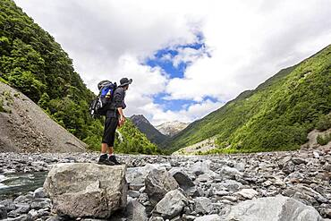 Guy at Arthur's Pass, Selwyn, Canterbury, South Island, New Zealand, Oceania
