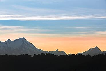 Landscape, Te Moeka o Tuawe, Fox Glacier, Westland-Distrikt, South Island, New Zealand, Oceania