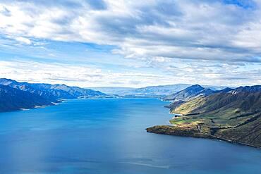 Landscape, Lake Hawea, Lake Hawea, Otago Region, Queenstown-Lakes District, South Island, New Zealand, Oceania