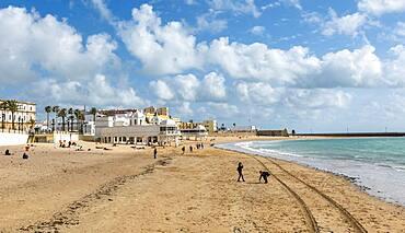 Playa de la Caleta, Cadiz, Costa del Luz, Andalusia, Spain, Europe