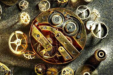 Old clockwork, Germany, Europe