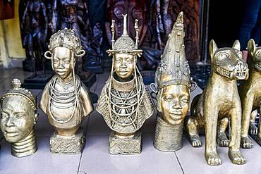 Copper souvenirs, Benin city, Nigeria, Africa