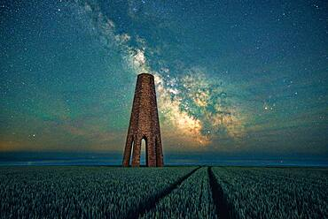 Milky Way over The Daymark, Devon, England, United Kingdom, Europe