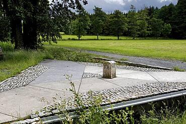 Three-Free-States-Stone, border stone, Green Belt, Kolonnenweg, border path, inner-German border installation, hiking trail, Bavaria, Saxony, Thuringia, Germany, Europe