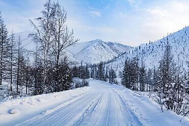 Road of Bones in the Suntar-Khayata mountain Range, Sakha Republic, Yakutia, Russia, Europe