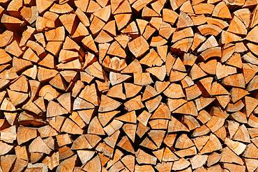 Background image, pile of wood on the roadside on Okutama Mukashi Michi Hike, Ishikawa prefecture, Tokyo, Japan, Asia
