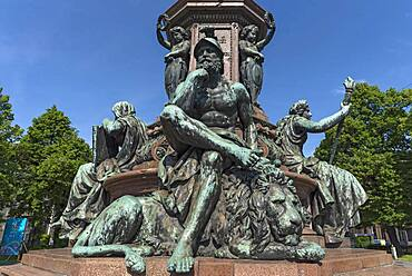 Monument King Maximilian II, detail view, Munich, Bavaria, Germany, Europe