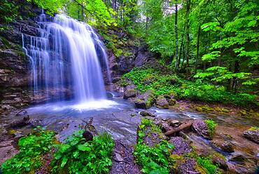 Waengibach with waterfall, Kaltbrunn, Canton St. Gallen, Switzerland, Europe