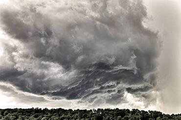 Thunderstorm approaching Stuttgart, Baden-Wuerttemberg, Germany, Europe
