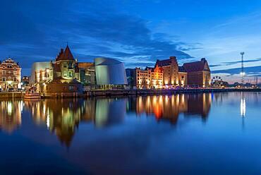 Ozeaneum, Oceanographic Museum next to old warehouses, Stralsund, Mecklenburg-Vorpommern, Germany, Europe