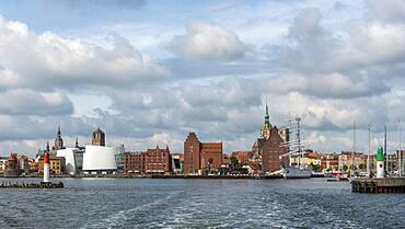 Port entrance Stralsund, Mecklenburg-Western Pomerania, Germany, Europe