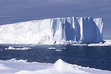 Icebergs at Riiser-Larsen Ice Shelf, Queen Maud Land Coast, Weddell Sea, Antarctica