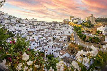 White washed architecture of Setenil de las Bodegas, Andalucia, Spain, Europe