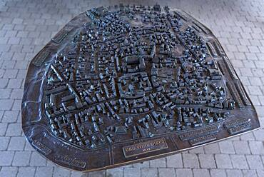 Relief view of the town of Bad Windsheim, Franconian Open Air Museum, Middle Franconia, Bavaria, Germany, Europe